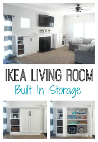 IKEA Built-ins for Storage: Create a wall of built-ins to ...