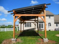 Hugh Lofting Timber Framing - Solar Pergola