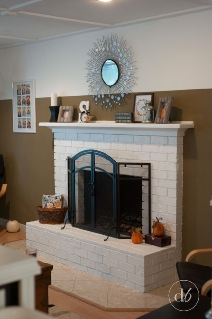 White Fireplace Makeover
