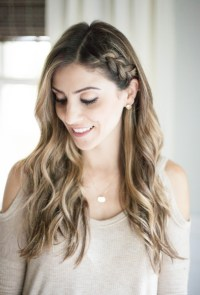 Beauty // Half Up Side Braid Hair Tutorial