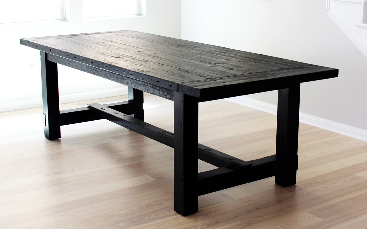 Black Farmhouse Table With Bench The Most Awesome Dining Table Ever 43 Imperfection Design