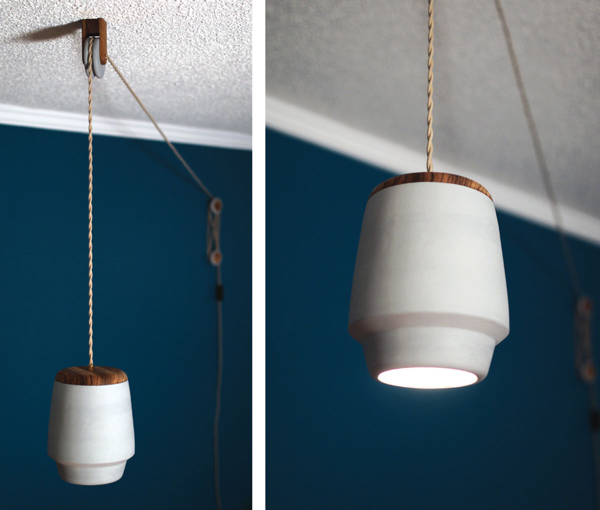 Lampadario Con Carrucola Polly A Pulley Pendant Light Design Milk