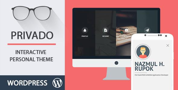 Privado - Interactive Resume  Portfolio Template by Codetic