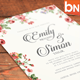 Download Rustic Floral Wedding Invitations from GraphicRiver