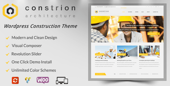 constrion buider wordpress theme