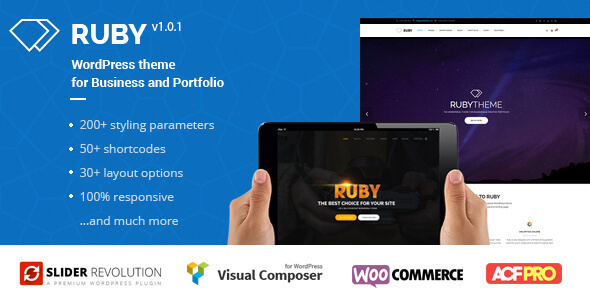 ruby wordpress theme for business