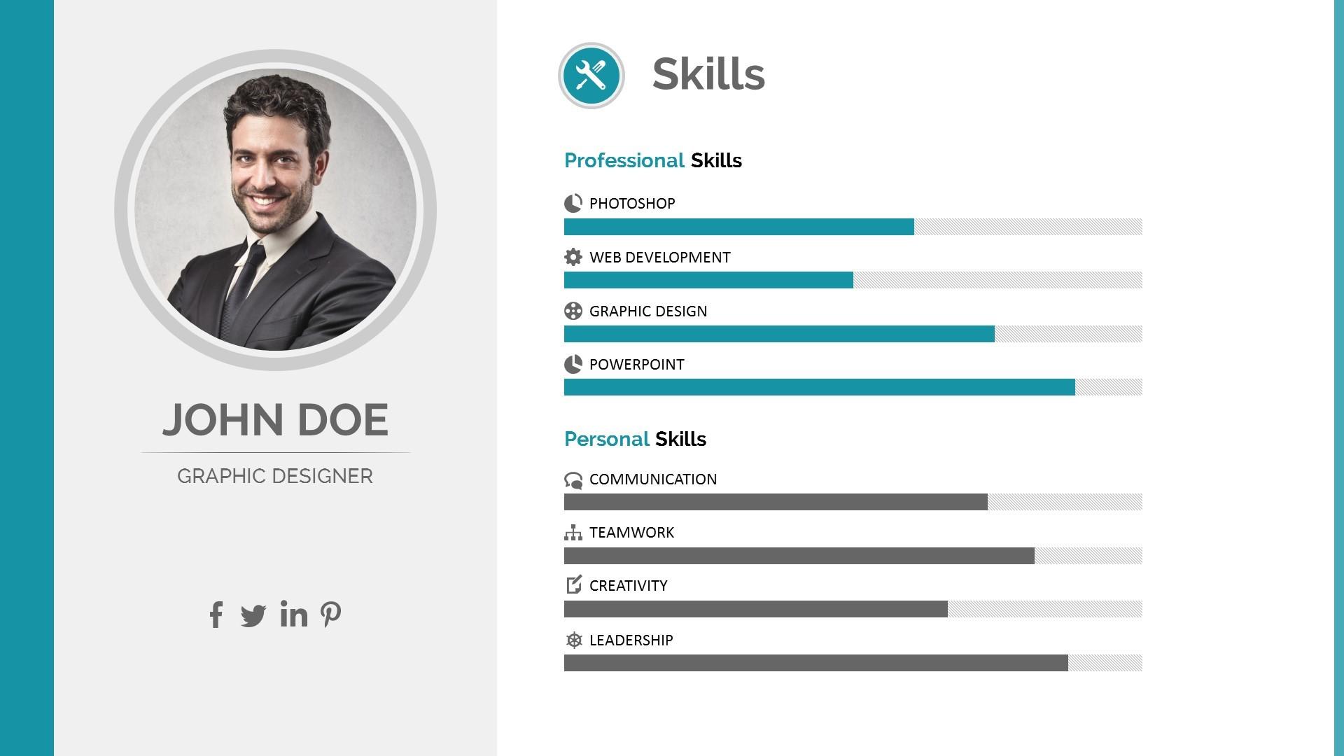 resume cv powerpoint template