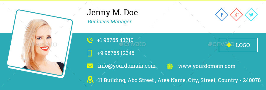 Signature-4jpg (900×306) Assinatura de e-mail Pinterest - business email template