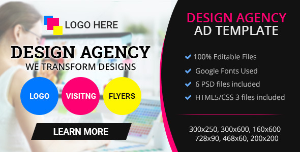 GWD \u2013 Design Agency Banner 001 (Ad Templates) Php Updated Scripts