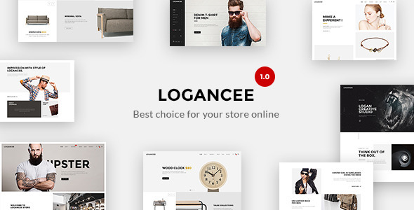 Logancee \u2013 Responsive Ecommerce Shopify Template (Shopping) Just - shopify template