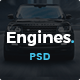 Download Engines - Automotive, Motor Cars, Vehicle Dealership PSD Template from ThemeForest