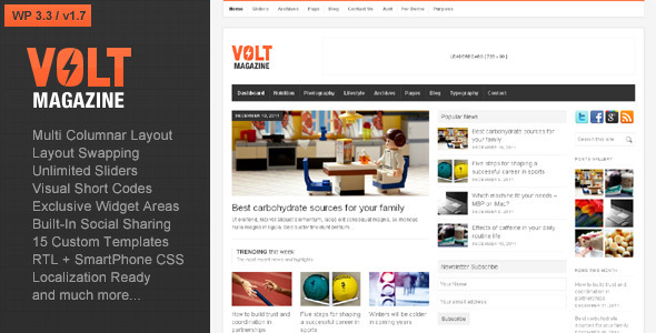 Volt - Magazine / Editorial WordPress Theme - ThemeForest Item for Sale