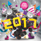 Download 2017 Happy New Year Flyer Template from GraphicRiver
