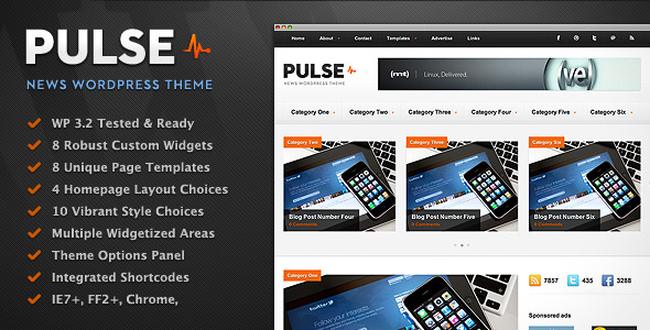 preview 1 pulse 10 Classy Magazine Themes for Wordpress