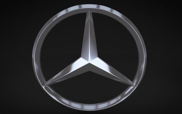 3d Stone Wallpaper For Walls Mercedes Logo By Niosdark 3docean