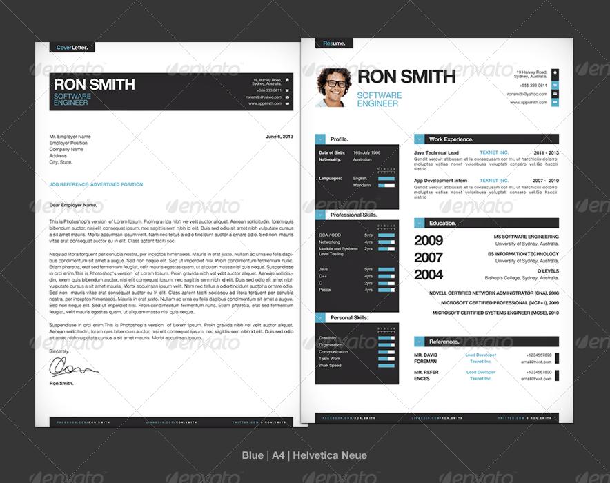 simple resume cv template mini portfolio