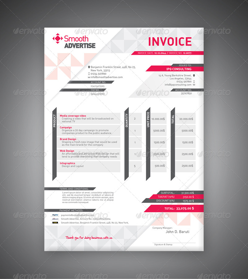 invoice template keynote | profesional resume sample, Invoice templates