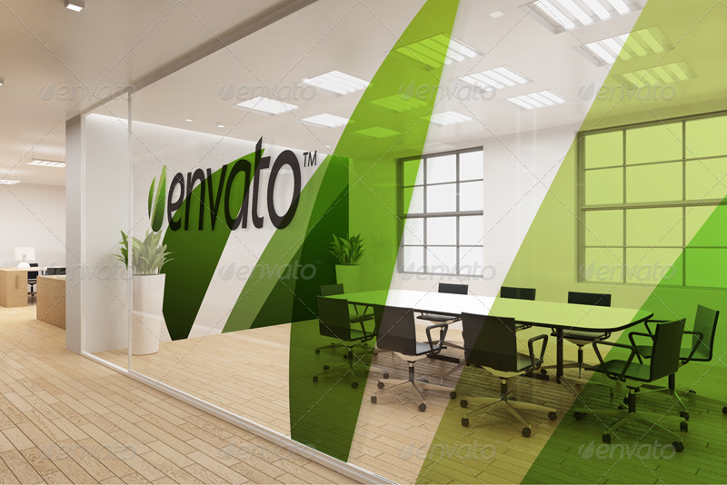 3d Wallpaper Making Software Free Download Office Interior Branding Mockups By Wutip Graphicriver