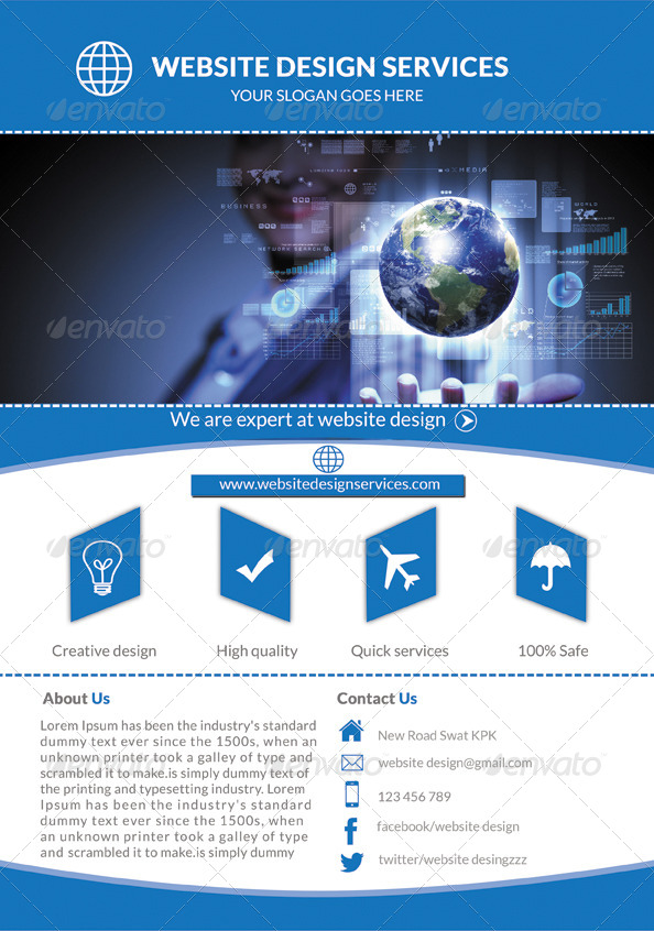 web design flyer - Delliberiberi - web flyer