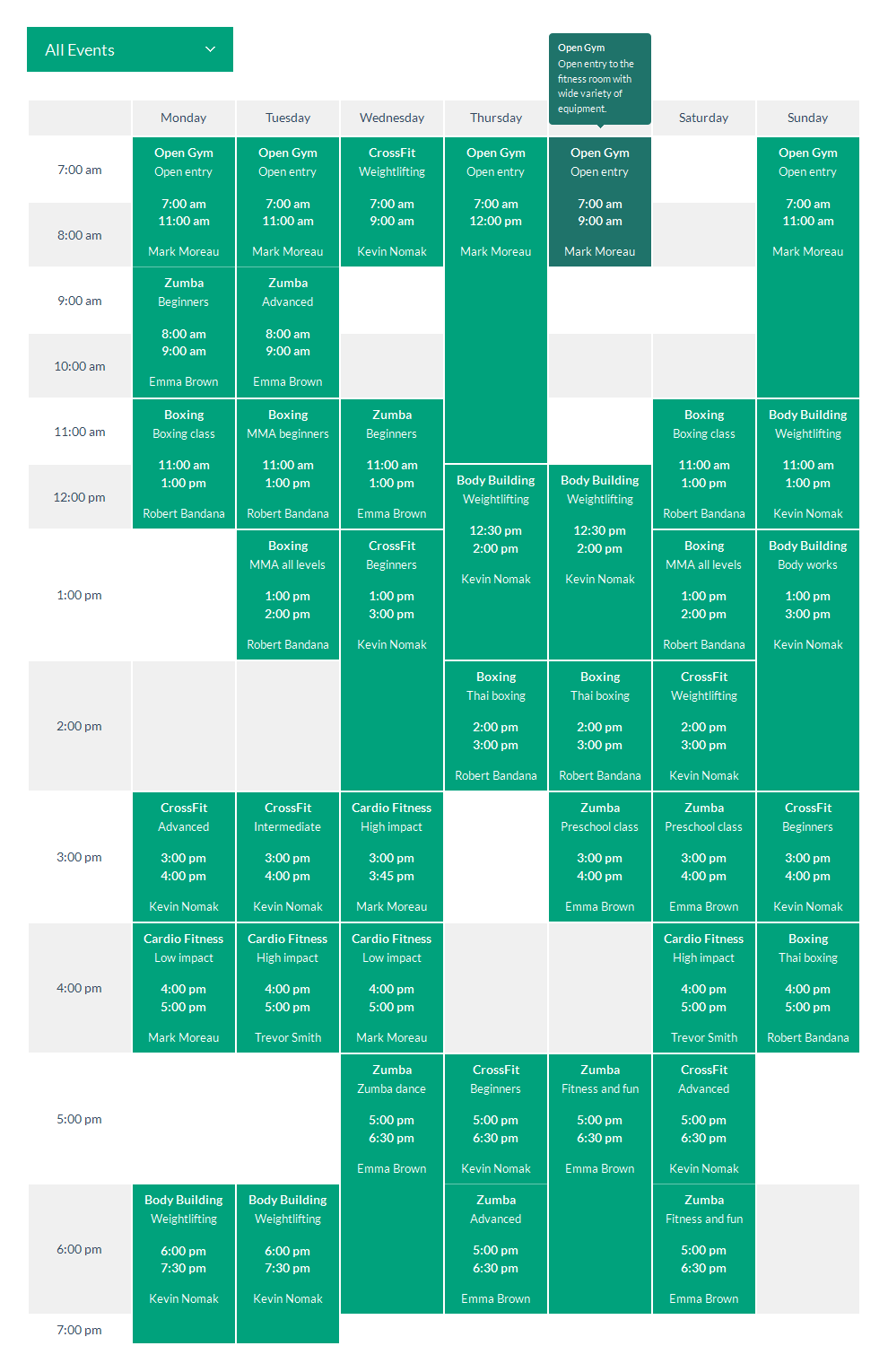 timetable word