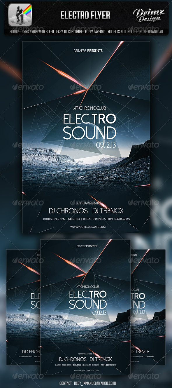 Top 50 Amazing Electro Minimal Flyer Templates PSD - electro flyer