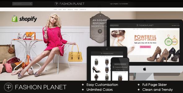 Fashion Planet Shopify Theme \u2014 7dana eCommerce templates - shopify template