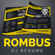 Download Rombus - DJ Resume / Press Kit PSD Template from GraphicRiver