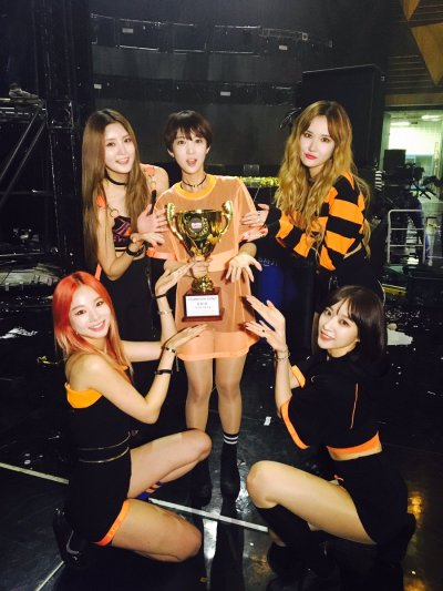 EXID Takes 1st Win For