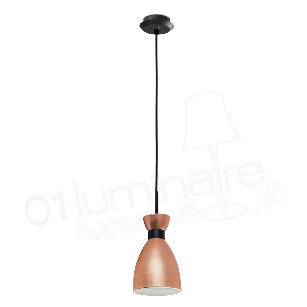 Lampe Suspension Cuivre Suspension Retro Cuivre 20046 Faro