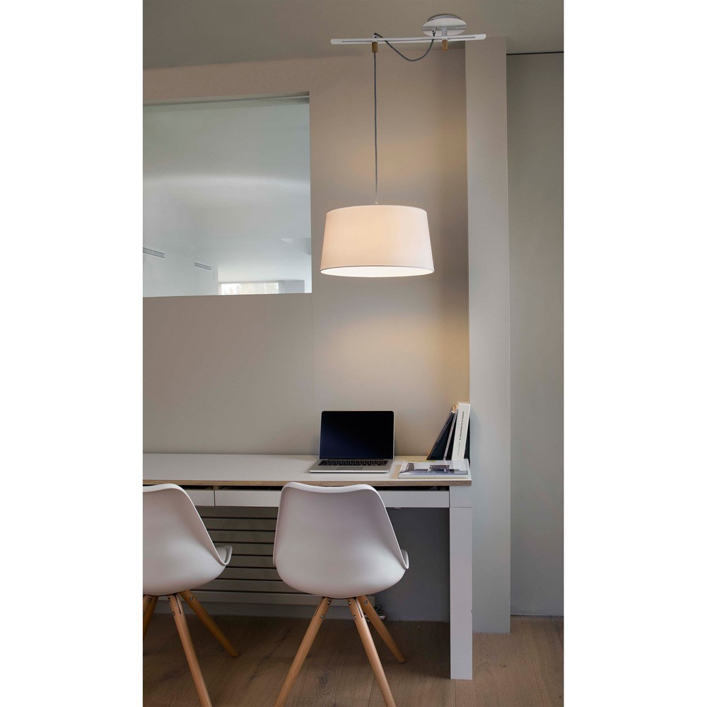 Suspension Abat Jour Blanc Suspension Fusta 28394 Faro