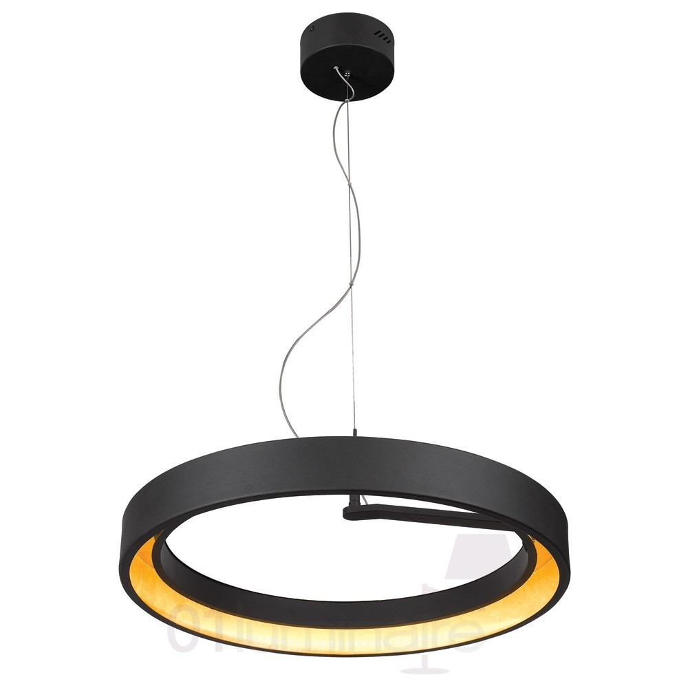 Suspension Luminaire Diamètre 60 Cm Suspension Astro Led Noir Mat Ø60cm Market Set