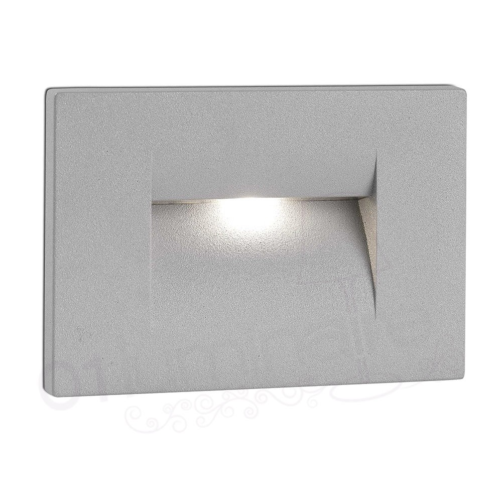 Eclairage Led Encastrable Exterieur Encastrable De Mur Horus 1 Led 3000k 50lm Ip65 Gris Faro