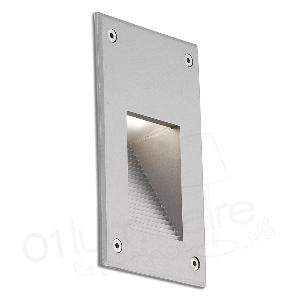 Applique Exterieur Encastrable Mur Encastrable De Mur Filter Led 2700k 75lm Ip65 Gris Clair Faro