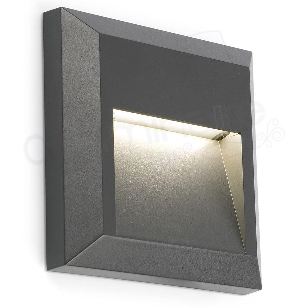 Eclairage Exterieur Mural Encastrable Encastrable De Mur Grant C Led 3000k 65lm Ip65 Gris Faro