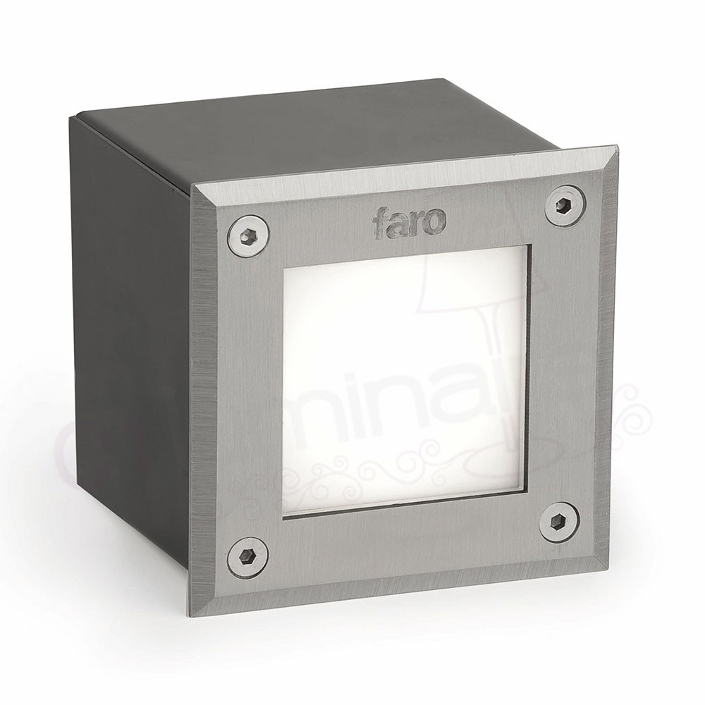Spot Encastrable Exterieur Led Spot Encastrable Led-18 Carré 3000k - Faro