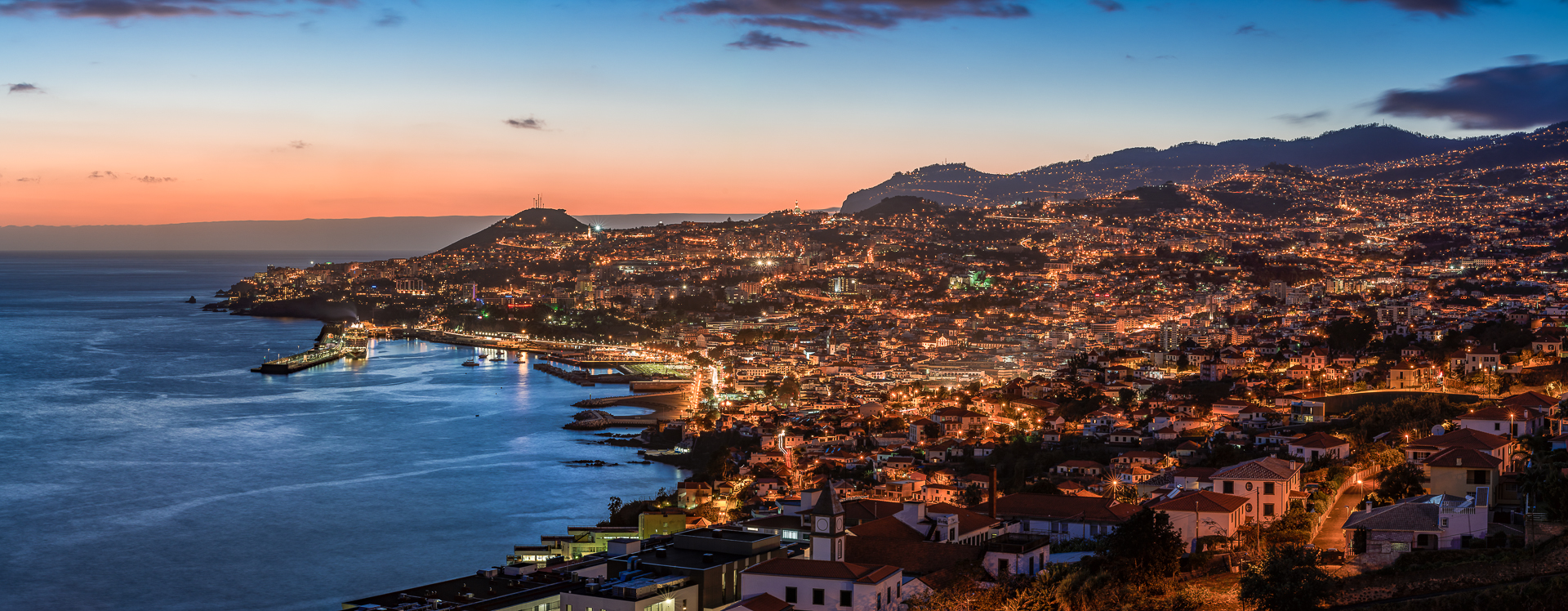 Night View Hd Wallpaper Madeira Island 030mm Photography