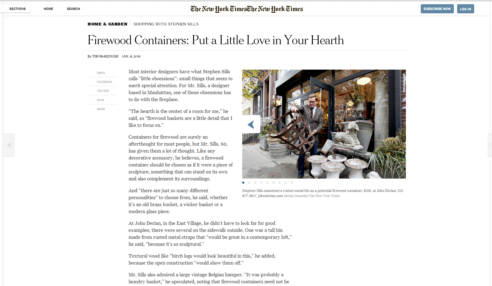 Tivoli Ny Ny Times Shopping With Stephen In The New York Times Today