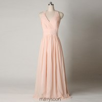 Rose Colored Halter Neck Chiffon Bridesmaid Dresses ...