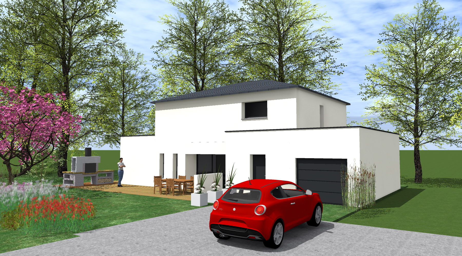 Etapes Construction Maison Rt 2012 Projet L 43a 1 2 Vue Architecte Lise Roturier Rennes