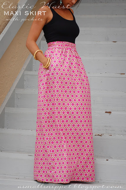 Elastic Waist Extricate Oneself A Minuscule Snippet Sewing Pattern Maxi Skirt