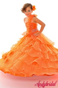 Orange Flower Girl Dresses Cheap 2014-2015 | Fashion ...