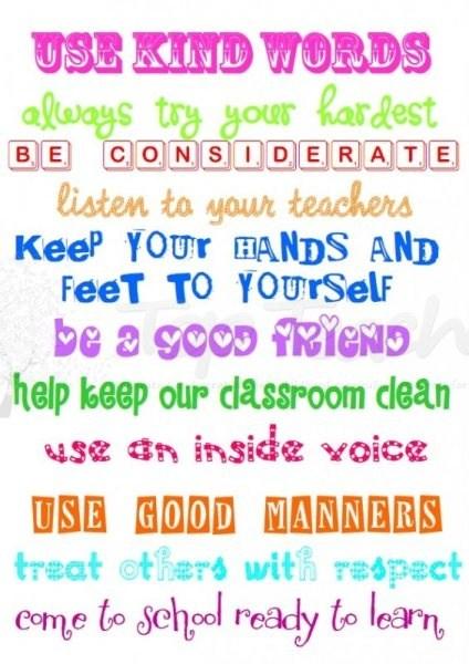 Classroom Expectations \u2013 Amanda Amirault \u2013 Christiana Elementary School