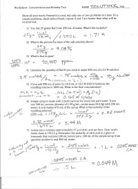 worksheet. Molarity Problems Worksheet. Grass Fedjp ...
