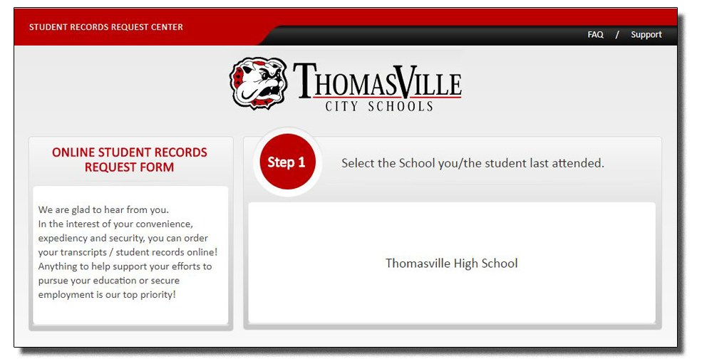 Transcript Requests \u2013 Student Services \u2013 Thomasville High School