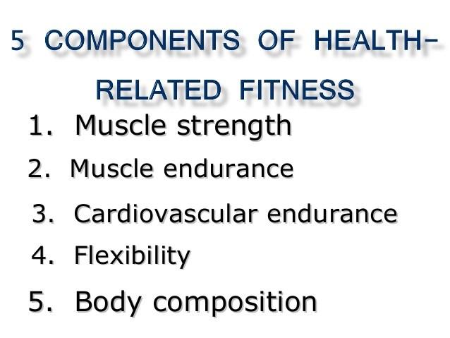 5 Components of Fitness - notes \u2013 Ms Tyson \u2013 Ridgecrest Intermediate