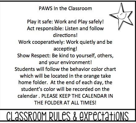 Classroom Expectations and Procedures \u2013 Jennifer Craddock \u2013 Brier
