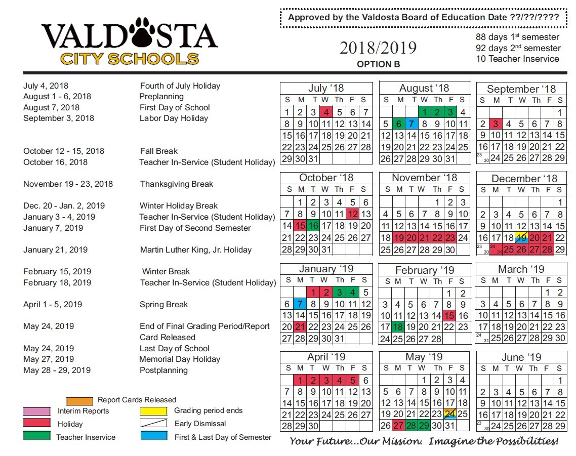 New Academic Calendar Valdosta Welcome To Valdosta State University 100 Academic Calendars 2018 2019 As Rowan College