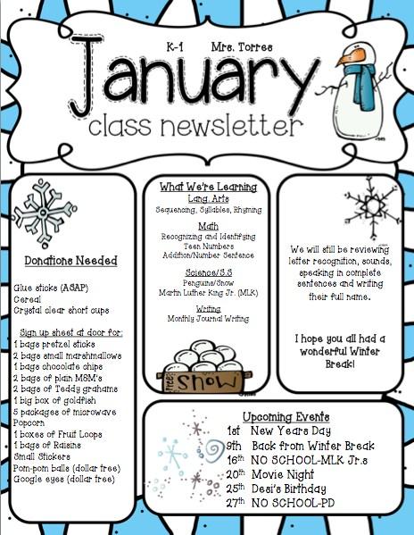 Monthly Newsletters \u2013 Mrs Denise Jimenez-Torres \u2013 Washington