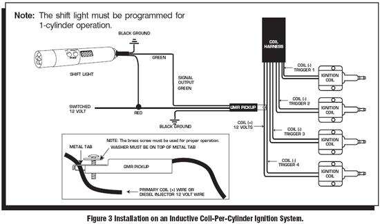 msd shift light tach wiring diagram