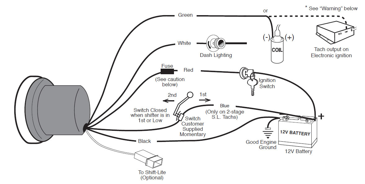 auto gauge rev counter wiring diagram